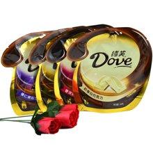 dove德芙巧克力袋装84克 年货婚庆成品喜糖巧克力 休闲办公零食