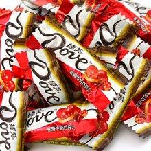 德芙 巧克力丝滑牛奶巧克力散装500g 婚庆喜糖喜庆红色德芙巧克力节日家庭零食