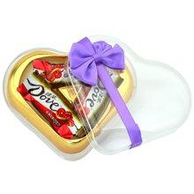 德芙 心形喜糖盒 德芙喜庆红 德芙巧克力喜庆装 结婚婚庆喜糖礼盒 婚庆喜糖礼盒-