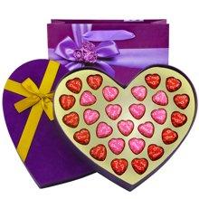 德芙巧克力礼盒装27粒 Dove德芙心形巧克力礼盒节日礼物送女友亲人朋友