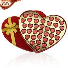 德芙巧克力礼盒装心语36粒巧克力礼盒装送女友节日礼物创意礼物德芙心形礼盒装