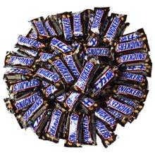 士力架花生夹心巧克力1000g散装 德芙能量棒散装巧克力零食大礼包