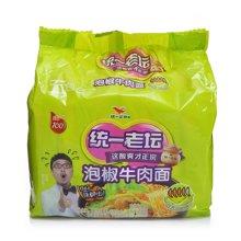 统一100老坛泡椒牛肉面五入(108g*5)