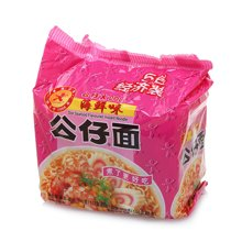 公仔面五包经济装煮面(海鲜味)(535g)