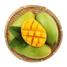 花果山 越南进口青皮芒果5斤装 青皮就能吃的芒果 单果200-350g