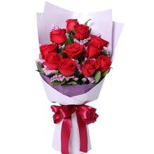 爱的纪念日----红玫瑰11枝,勿忘我、栀子叶[花礼鲜花]