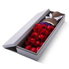 一往情深----玫瑰礼盒深圳鲜花同城速递纪念日生日礼物送爱人女友[花礼网鲜花]
