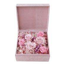 仲夏夜之梦----永生花盒:厄瓜多尔进口粉色永生玫瑰