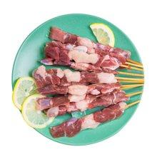 鲜动生活有机甘草羊肉串5串*5包 共25串 箐茂滩羊生羊肉烧烤小烤串膻味淡