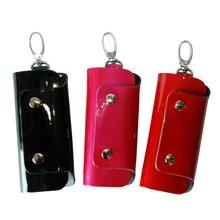 Sasa/萨萨 时尚亮漆纯色牛皮钥匙包 SA15-W0498