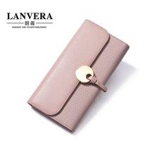 LANVERA朗薇 新款牛皮钱包韩版女士长款钱夹零钱包 6636