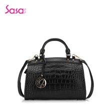Sasa/萨萨 撞色纹路OL时尚手提包单肩包SA42-H0467