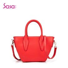 Sasa/萨萨 女士手提包挎包纯色牛皮聚财元宝包定型包女包 SA42-H0499