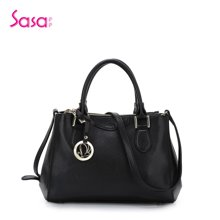 Sasa/萨萨 女士手提包挎包公文包十字纹女包通勤牛皮女包大款 SA03-H0451
