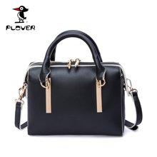 啄木鸟Plover2017新款波士顿包手提包复古小包包女欧美时尚简约单肩包P16302L195T