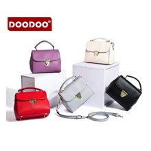 DOODOO 新款女包斜跨单肩手提方包锁扣小包5136