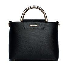 DOODOO 欧美时尚新款优雅圆环手提女包单肩斜跨包包5132