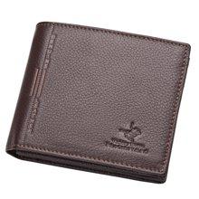 维多利保罗  男士钱包短款商务钱夹头层牛皮带驾驶证皮夹 88C110673-5L