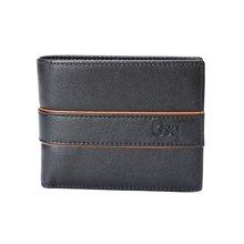 GSQ古思奇男士钱包时尚撞色头层牛皮短款钱包Q1163