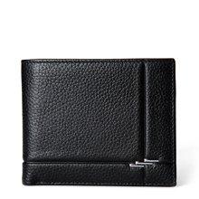 丹爵新款头层牛皮男士钱包简约设计男士短款钱包礼盒装D6016-2-3