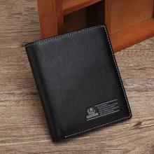 美洲野牛男士短款真皮正品头层牛皮横款韩版潮钱夹商务男包包皮夹N4460-2