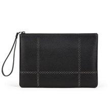 澳洲袋鼠男士手包铆钉信封包时尚牛皮手拿包大容量软皮手抓包A2608110-01AXX