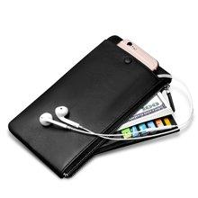 澳洲袋鼠男长款钱包拉链真皮超薄手包大容量男士青年手机包A2609030-01ATC