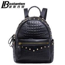 波斯丹顿女士双肩包新款铆钉迷你小背包休闲学院韩版风小包包潮