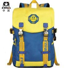 申派学院风时尚潮流大容量休闲旅行韩版双肩背包B6-2