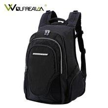 狼域双肩包背包高中生学生尼龙书包休闲商务电脑包旅行包