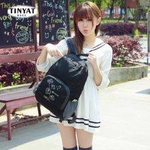 天逸TINYAT 旅行袋潮韩版购物袋时尚尼龙女包折叠包双肩背包女大容量防水TYX/107