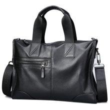 古思奇时尚柔软头层小牛皮大容量横款手提包单肩包斜挎包G571