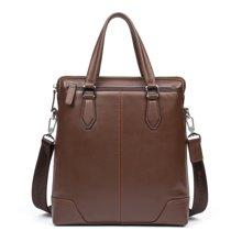 丹爵 新款男士包头层牛皮竖款手提包商务公文包休闲单肩包D201-2
