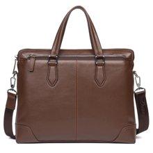 丹爵  新款时尚男包头层牛皮横款手提包商务单肩包斜挎包男士背包D201-1
