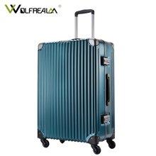 狼域新款铝框拉杆箱万向轮行李箱登机箱商务潮旅行箱男女20寸24寸