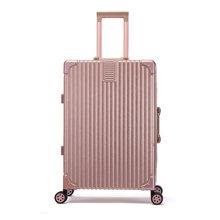 丹爵(DANJUE)ABS+PC材质时尚新颖拉杆箱铝框密码箱旅行箱万向轮行李箱 D31