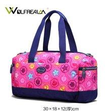 狼域大容量旅游行李袋小短途旅行包轻便尼龙女包帆布手提包旅行包