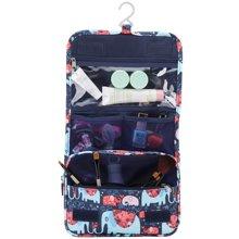 爱华仕旅行收纳袋 日用品收纳盒印花小象整理袋化妆包翻盖多隔层