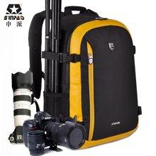 申派后开防盗单反相机包旅行包双肩摄影包数码摄像机男女旅游背包SY-01