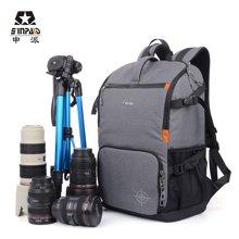 申派摄影包双肩背包索尼康佳能单反包数码相机包防水多功能旅行包SY-07