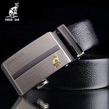 袋鼠 男士商务正装休闲自动扣头层牛皮西裤腰带皮带 DS6307