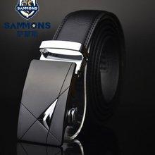 萨蒙斯 男士真皮腰带商务正装牛皮自动扣式皮带 18289