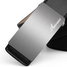 澳洲袋鼠男士真皮皮带正品平滑扣正装腰带纯牛皮商务休闲JGPRD4FZ