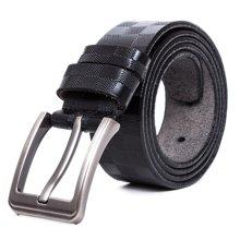 丹爵新款压花牛皮商务皮带男士腰带休闲腰带礼盒装皮带12