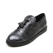 Pinkii/苹绮 shoebox鞋柜2016夏季新款时尚布洛克女鞋圆头低跟防滑套脚单鞋潮