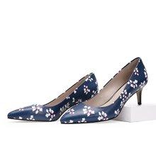 色非新款欧美尖头高跟鞋休闲细跟浅口单鞋女