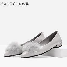 色非新款欧美时尚粗跟鞋女浅口单鞋休闲百搭女鞋