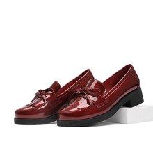 专柜新款 Faiccia/色非新款欧美粗跟女鞋蝴蝶结圆头单鞋