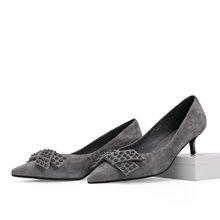 Faiccia/色非新款韩版细跟女鞋休闲尖头浅口高跟鞋