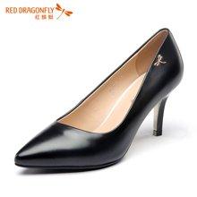 红蜻蜓女鞋 2016新正品简约职业尖头高跟女单鞋 6063
